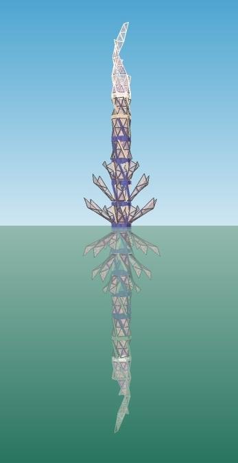 Quetzal Suspended, Floating in the Ocean