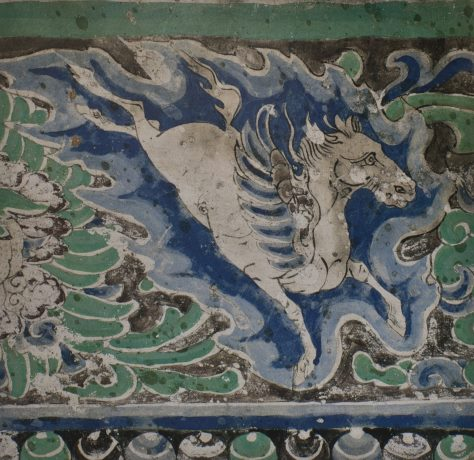 Yulin_Cave_10_ceiling_w_winged_horse_(Western_Xia)s